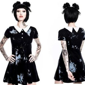 Killstar 'Dye Fast' dress in charcoal